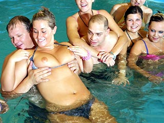 Several Couples in Pool
