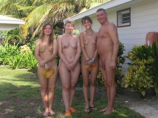 Happy Nudist People